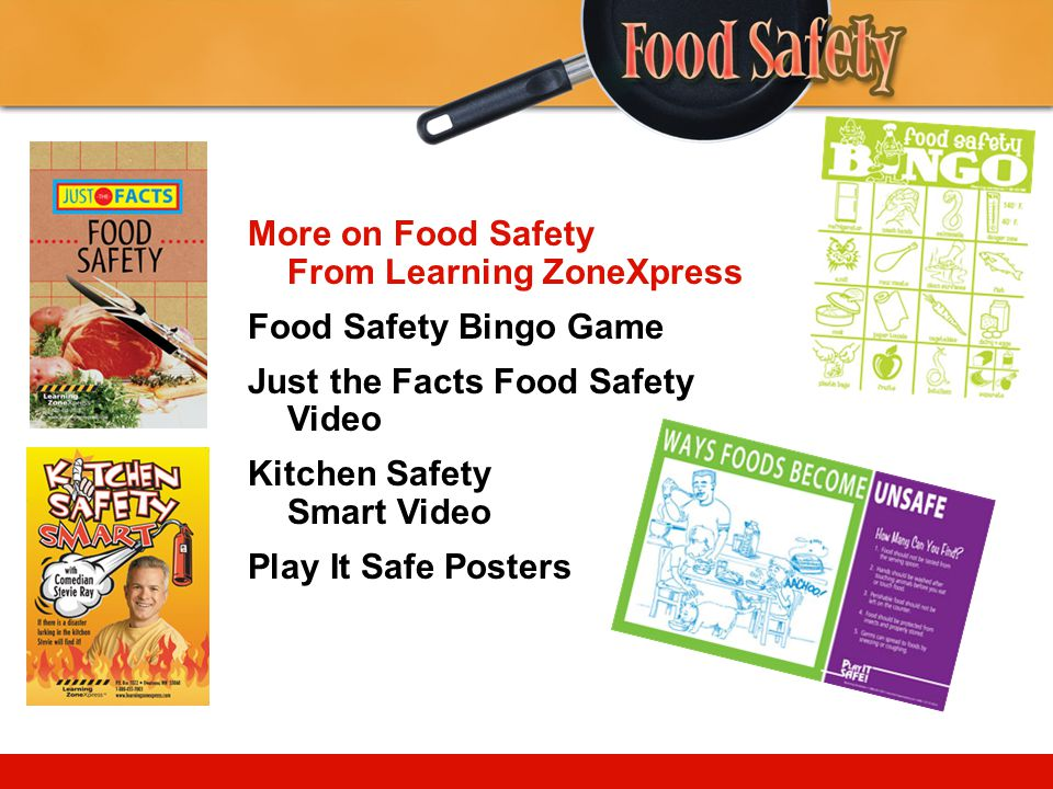 More on Food Safety From Learning ZoneXpress