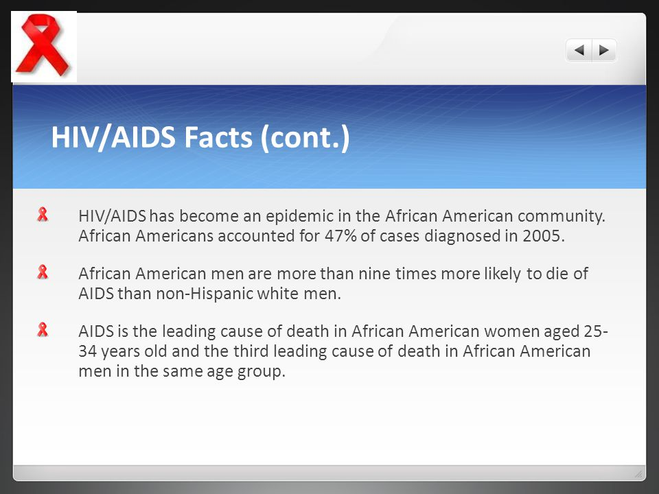 HIV/AIDS Facts (cont.)