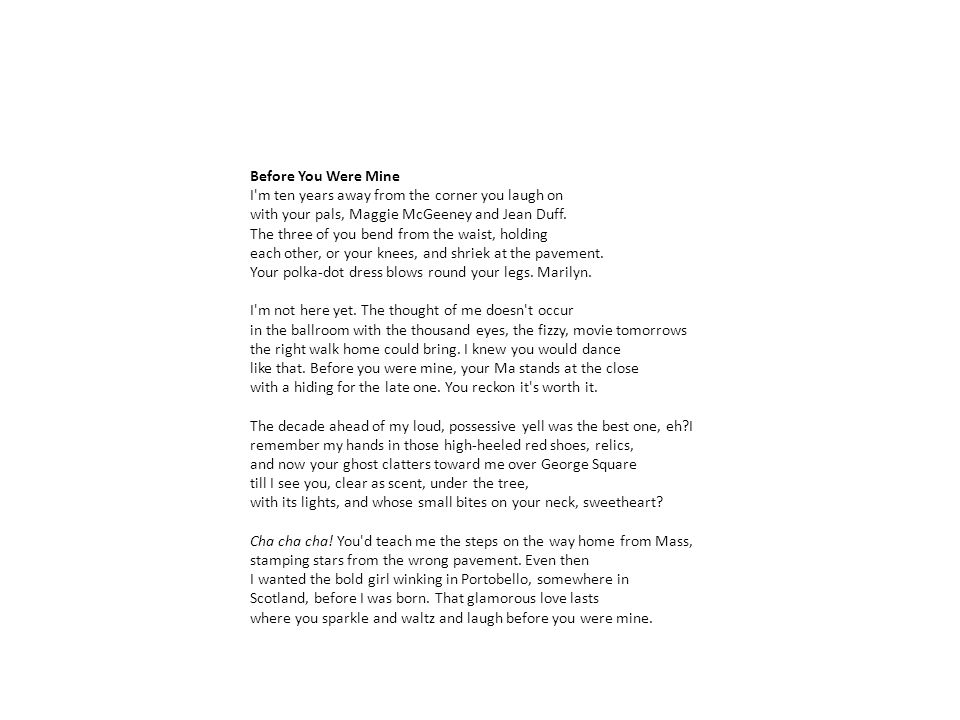 Before You Were Mine Carol Ann Duffy Ppt Video Online Download