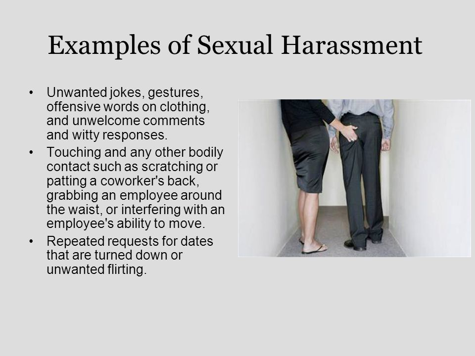 Unwelcome sexual harassment examples
