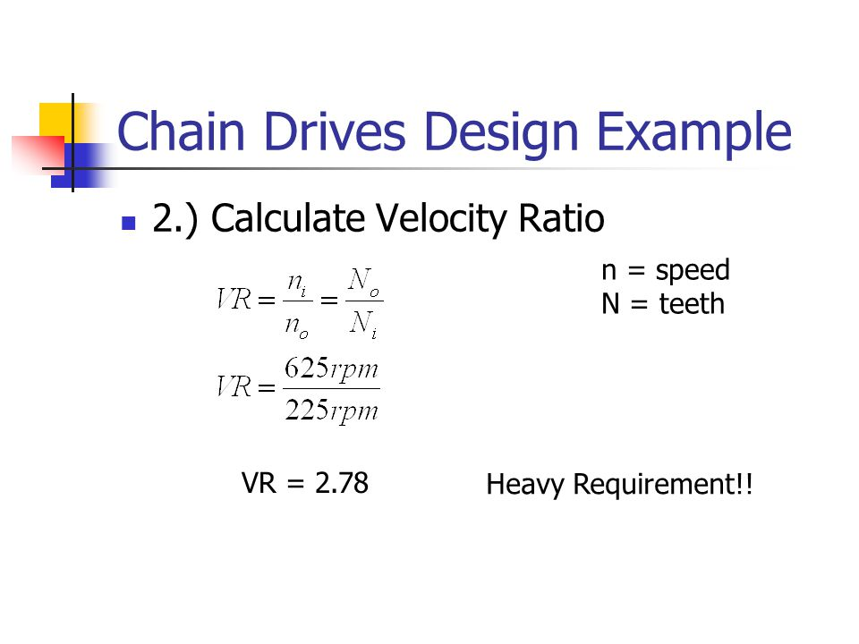 Chain drive speed calculator
