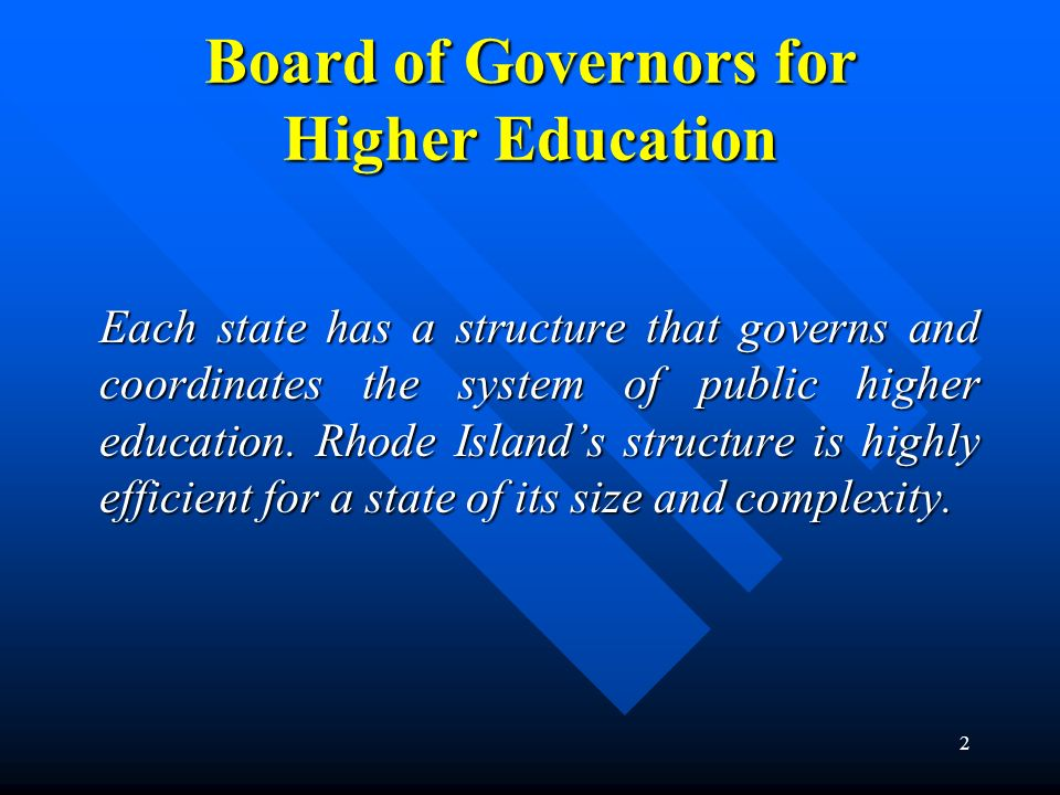 Board of Governors for Higher Education