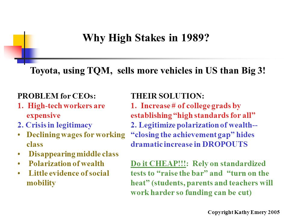 Toyota, using TQM, sells more vehicles in US than Big 3!