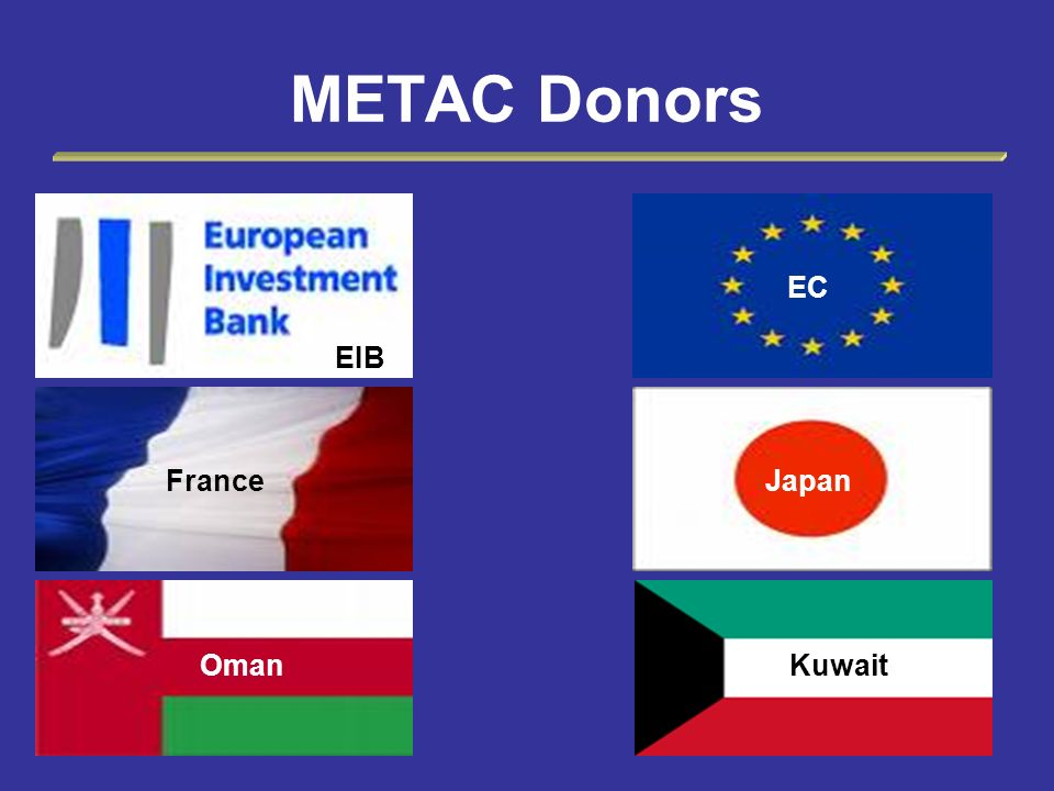 METAC Donors EIB EC France Japan Oman Kuwait