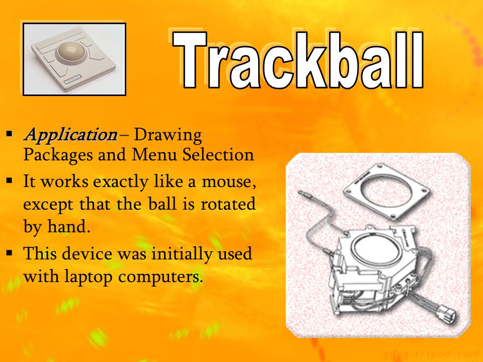 Trackball Application – Drawing Packages and Menu Selection