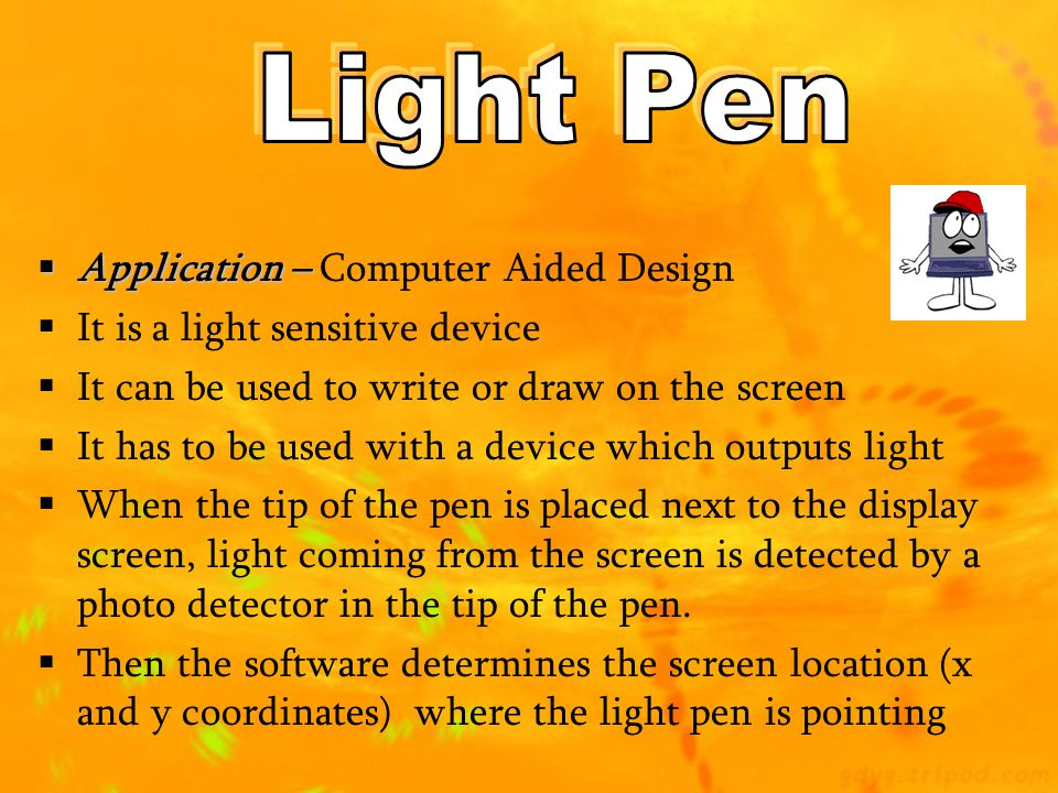 Light Pen Application – Computer Aided Design