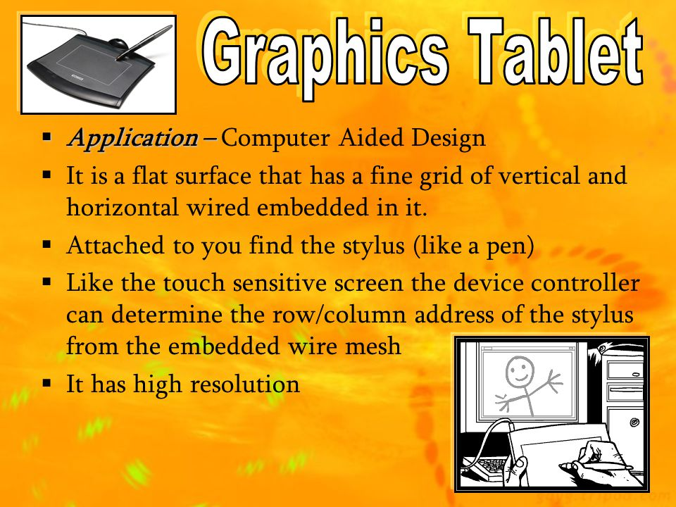 Graphics Tablet Application – Computer Aided Design