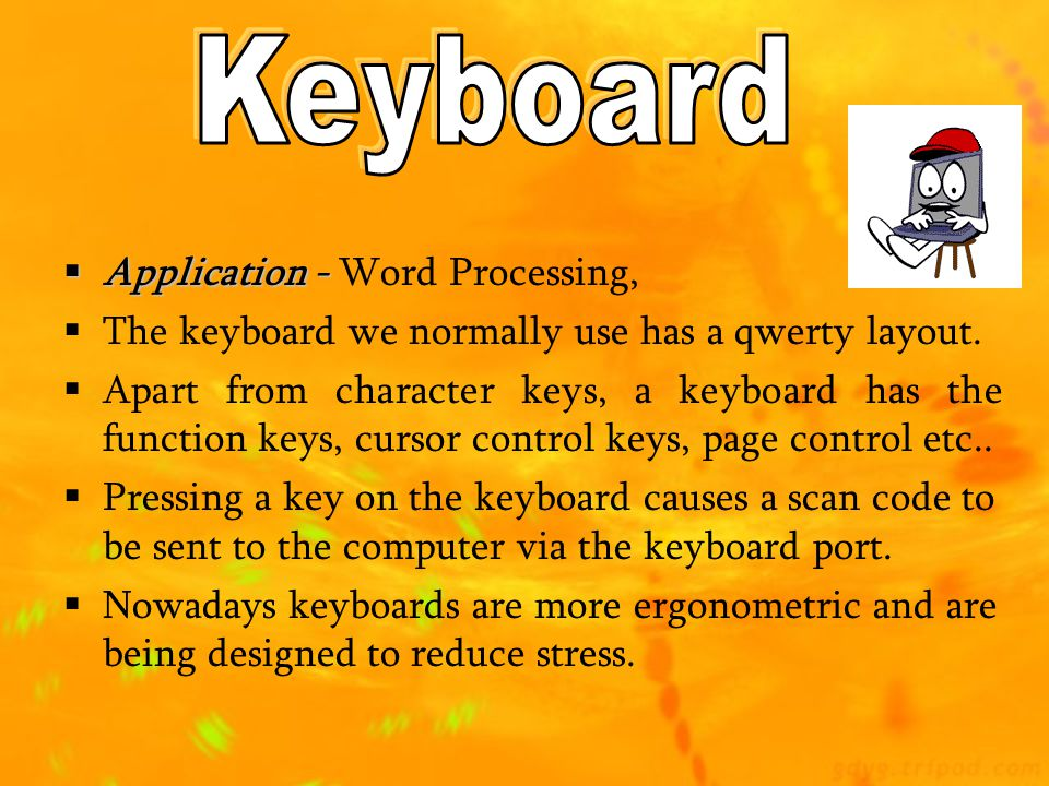 Keyboard Application - Word Processing,