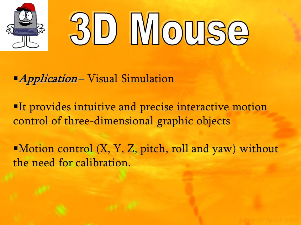 3D Mouse Application – Visual Simulation