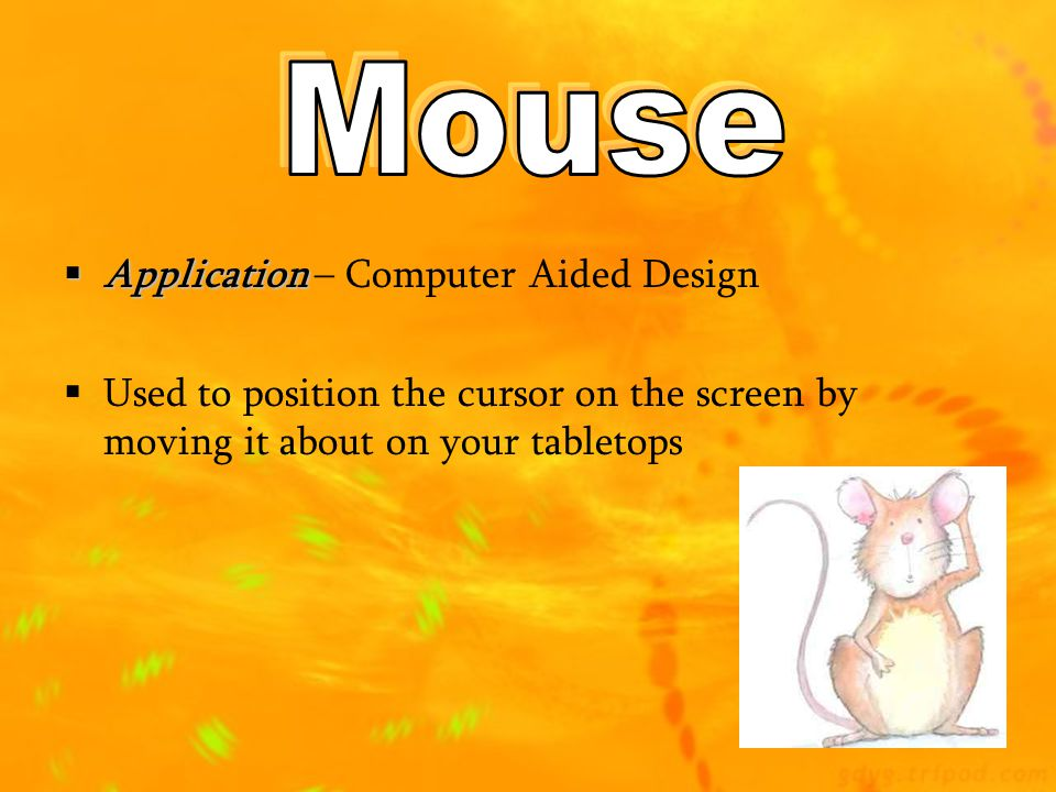 Mouse Application – Computer Aided Design