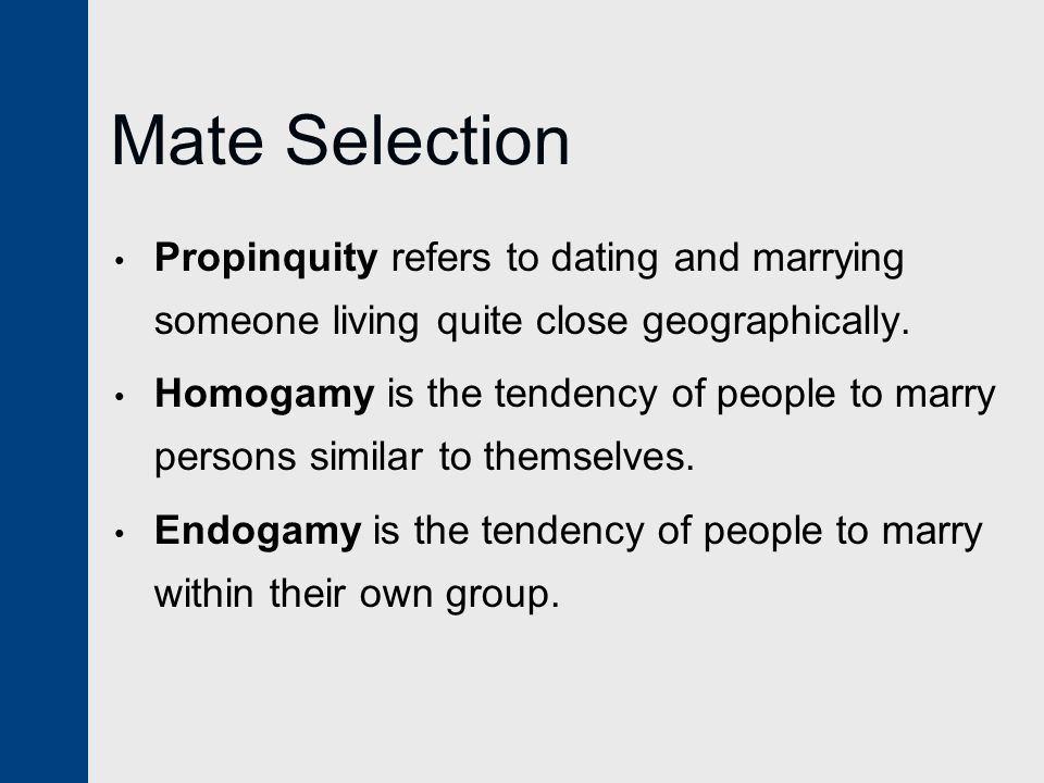 dating and mate selection