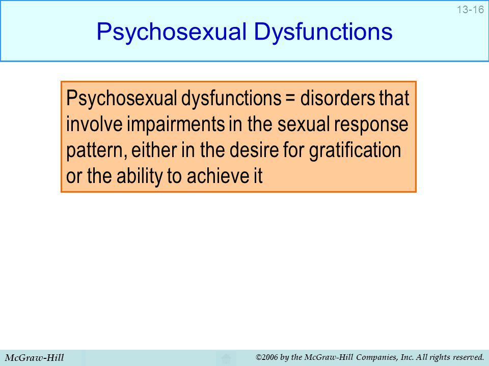 Psychosexual Dysfunctions
