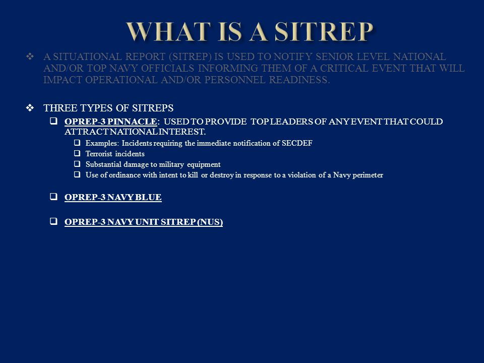 Navy Unit Sitreps Ppt Video Online Download