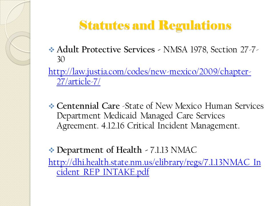 adult New services mexico protective