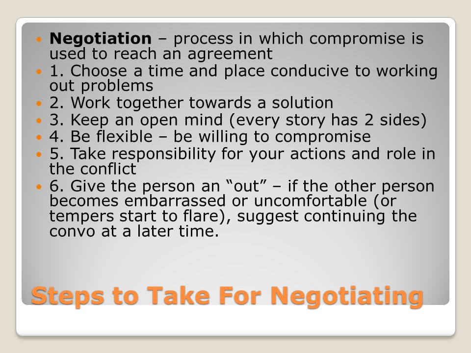Steps to Take For Negotiating
