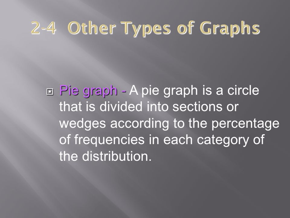 2-4 Other Types of Graphs