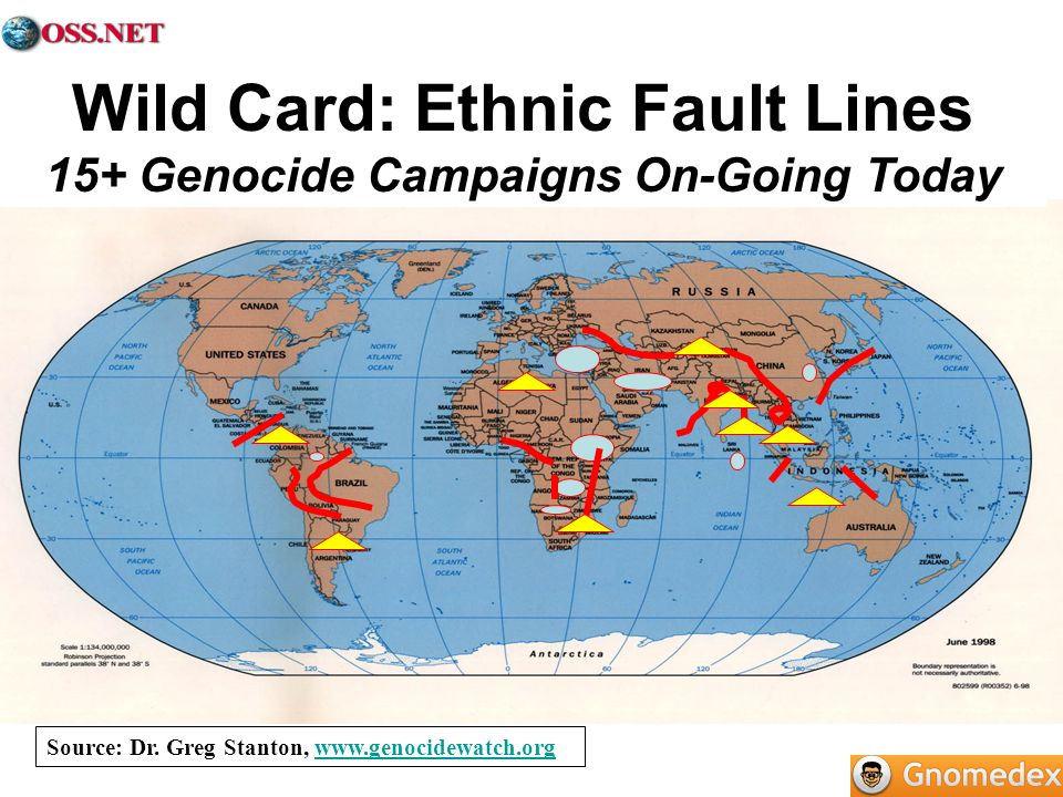 Wild Card: Ethnic Fault Lines 15+ Genocide Campaigns On-Going Today