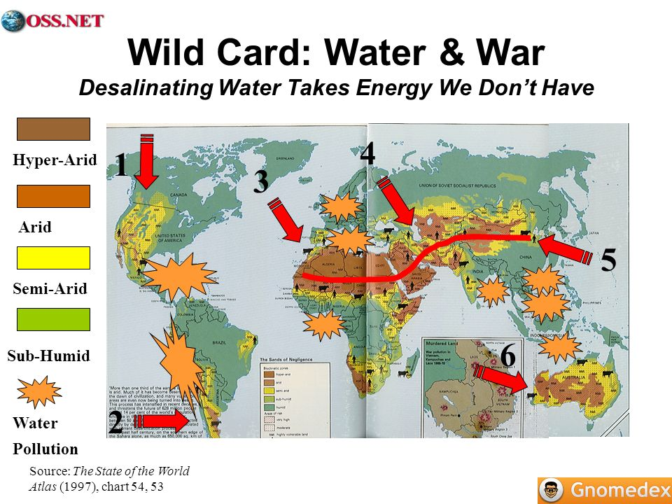 Wild Card: Water & War Desalinating Water Takes Energy We Don't Have