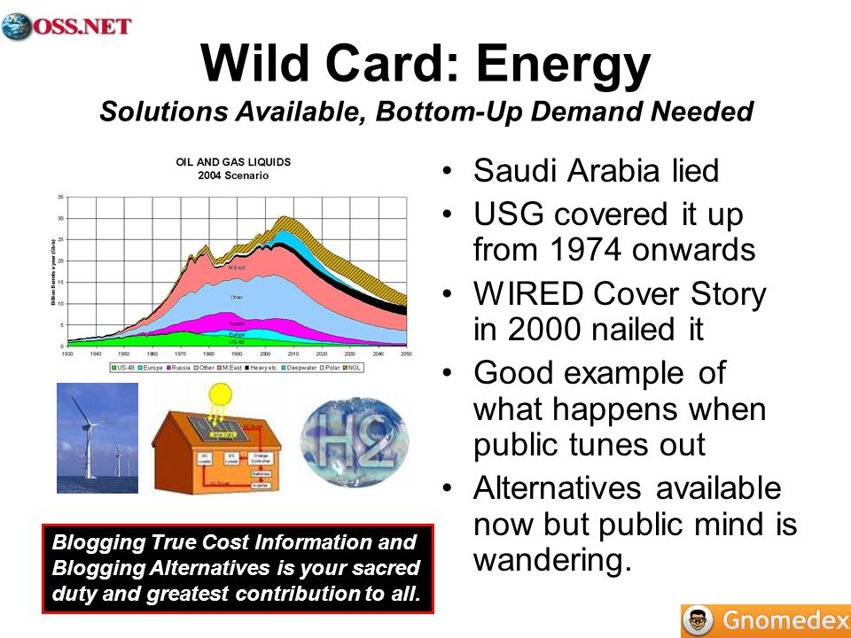 Wild Card: Energy Solutions Available, Bottom-Up Demand Needed
