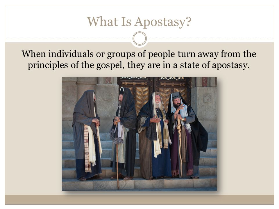 What Is Apostasy.