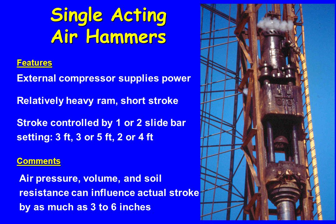 Single Acting Air Hammers