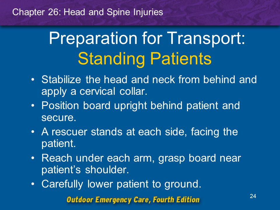 Preparation for Transport: Standing Patients