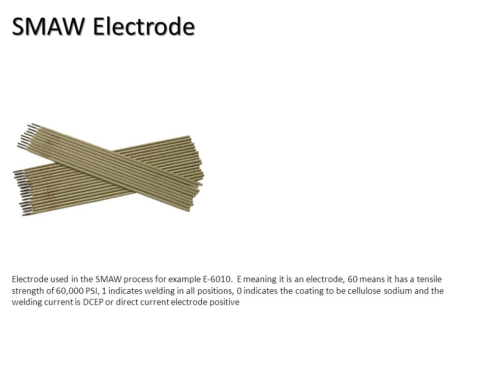 SMAW Electrode Welding-Arc Welding Electrodes Image: SMAWelectrode.jpg Height: 216 Width: 216.