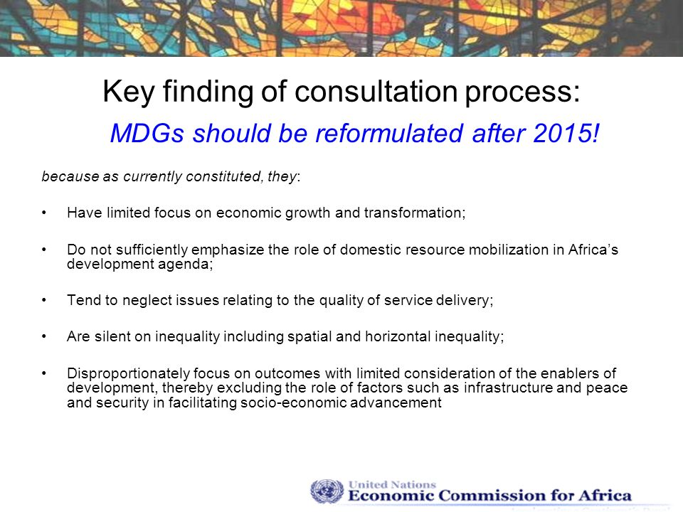 Key finding of consultation process: