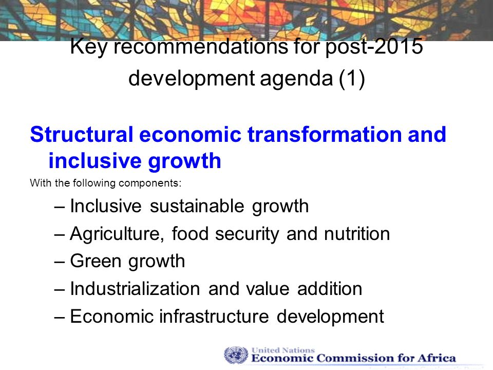 Key recommendations for post-2015 development agenda (1)