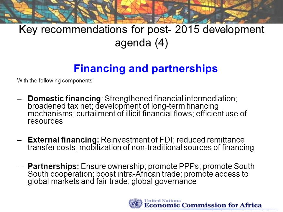 Key recommendations for post development agenda (4)