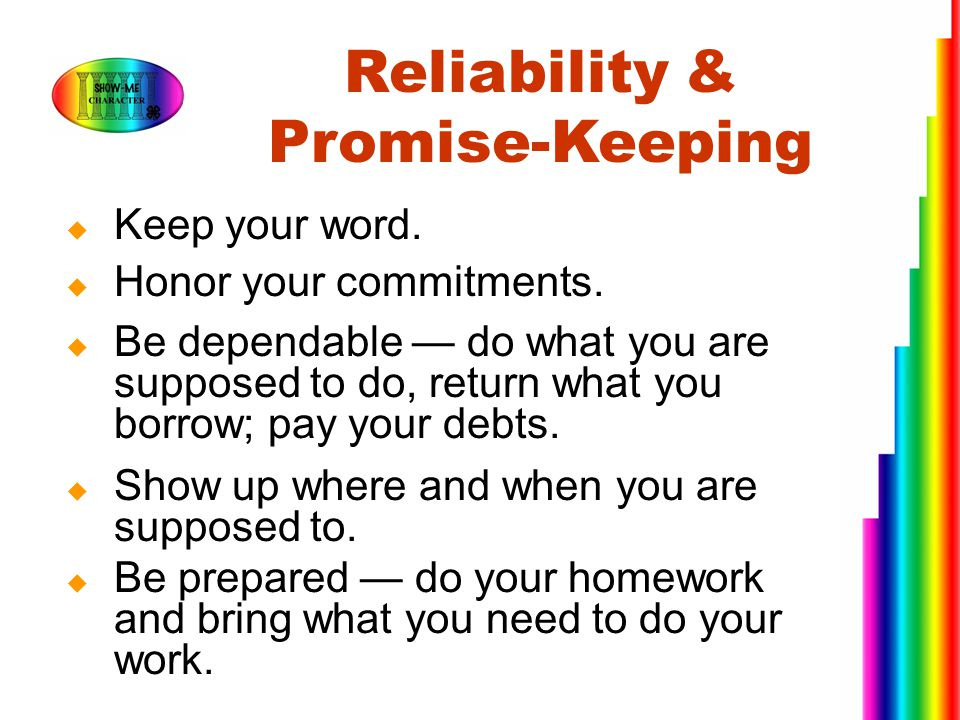 Reliability & Promise-Keeping