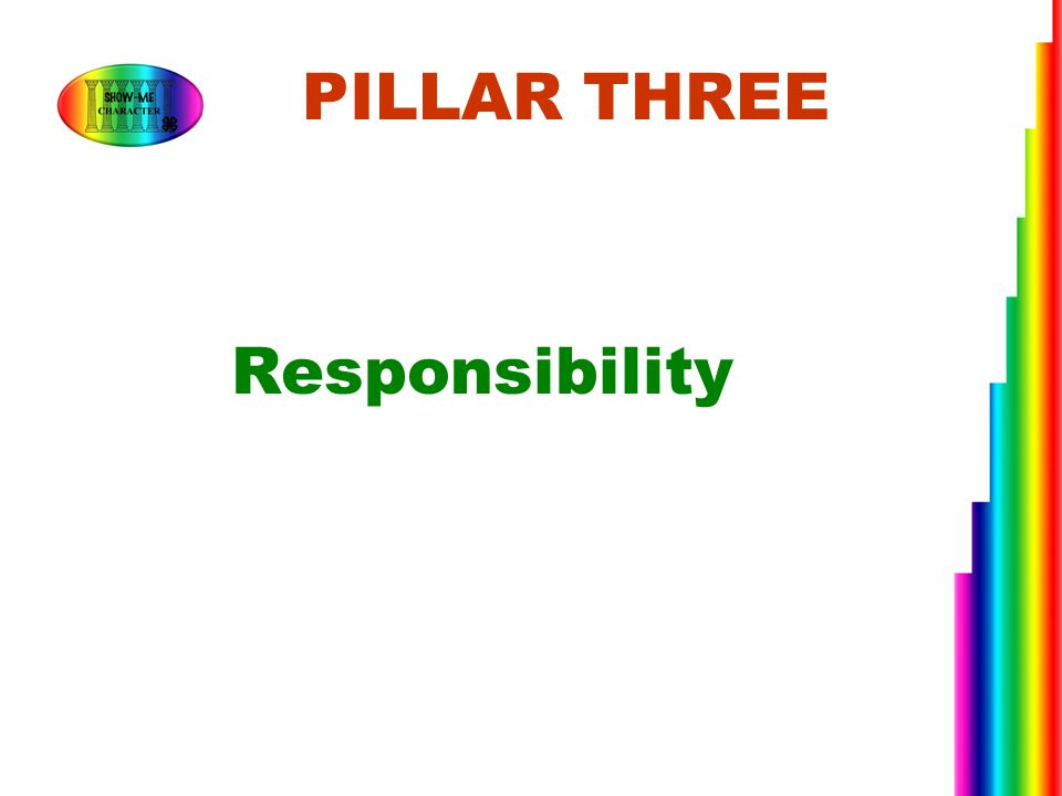 PILLAR THREE Responsibility