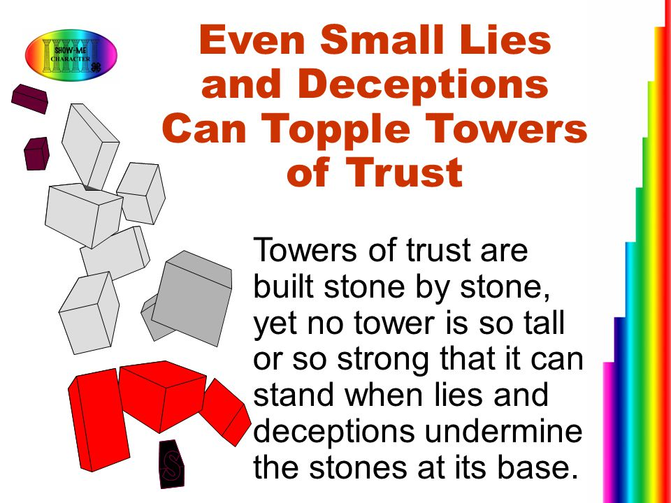 Even Small Lies and Deceptions Can Topple Towers of Trust