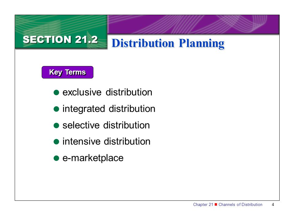 Distribution Planning