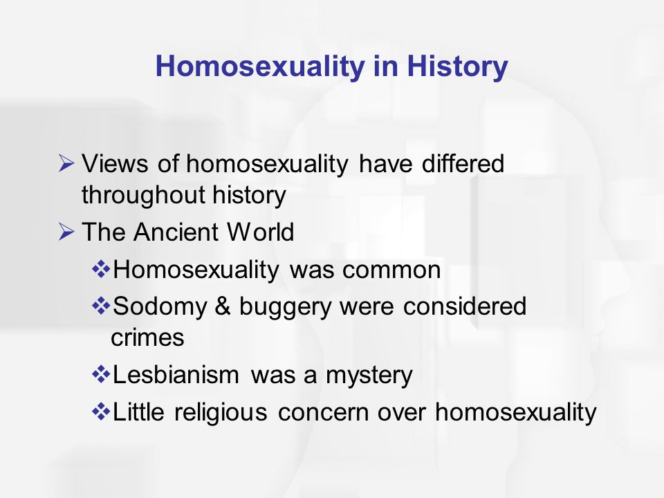 Historical views on homosexuality