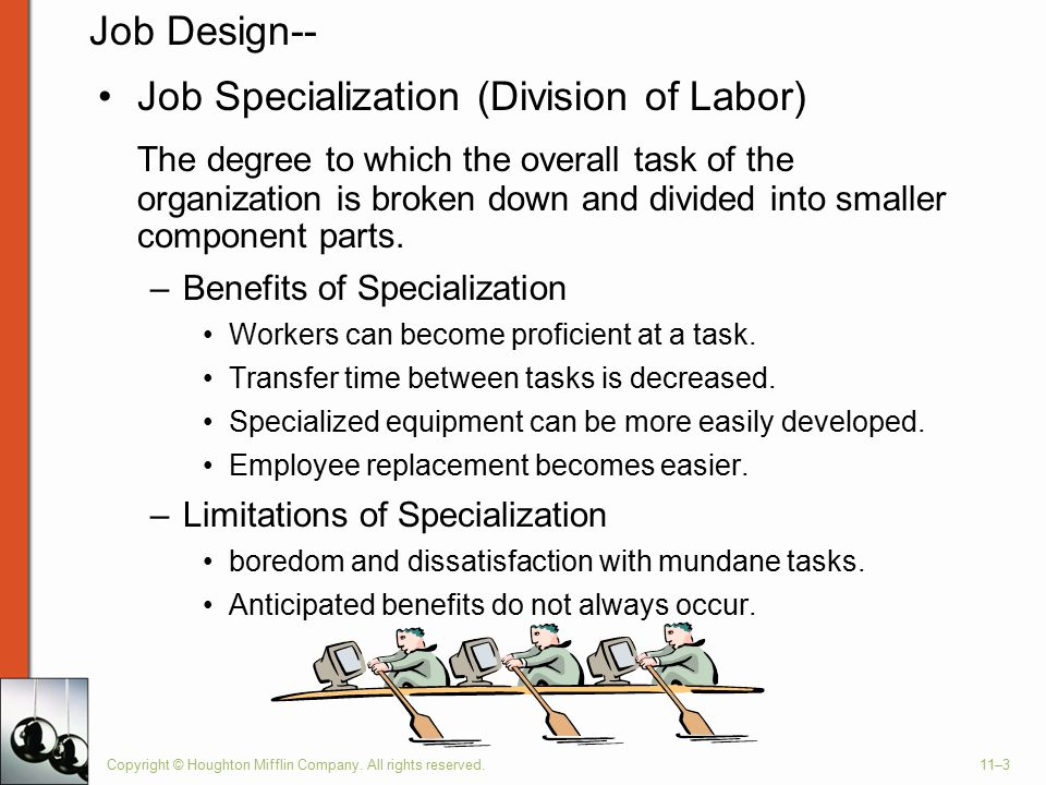 Job Specialization (Division of Labor)