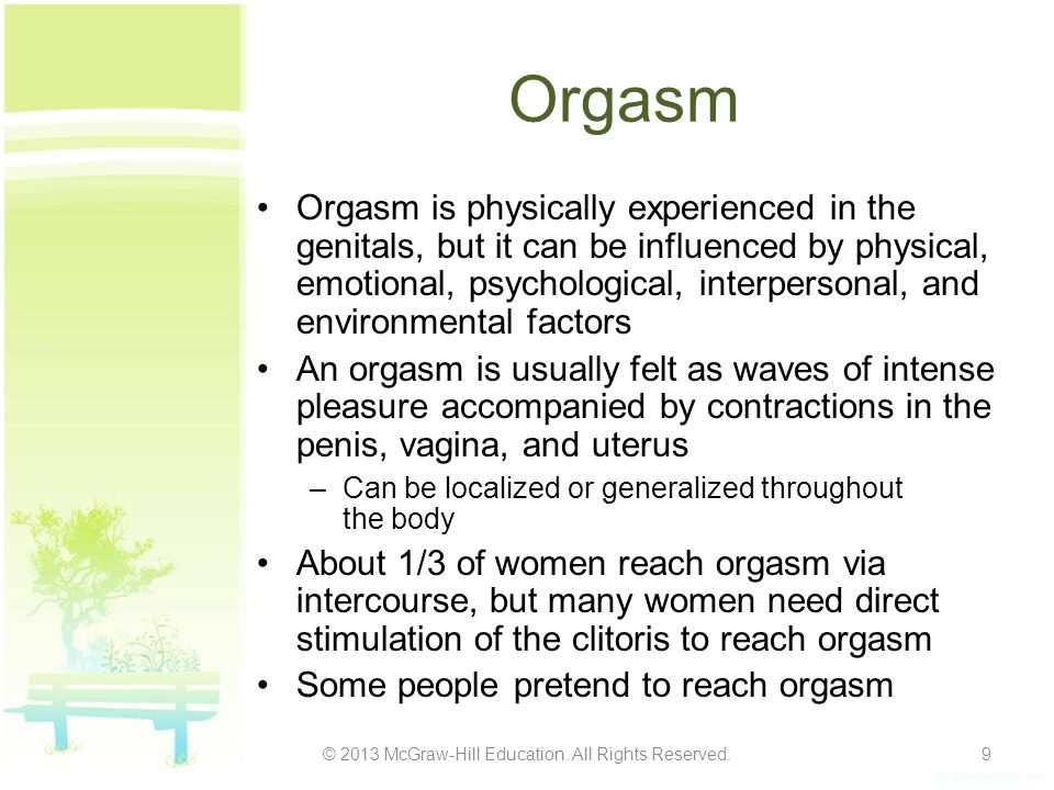 How to reach orgasm