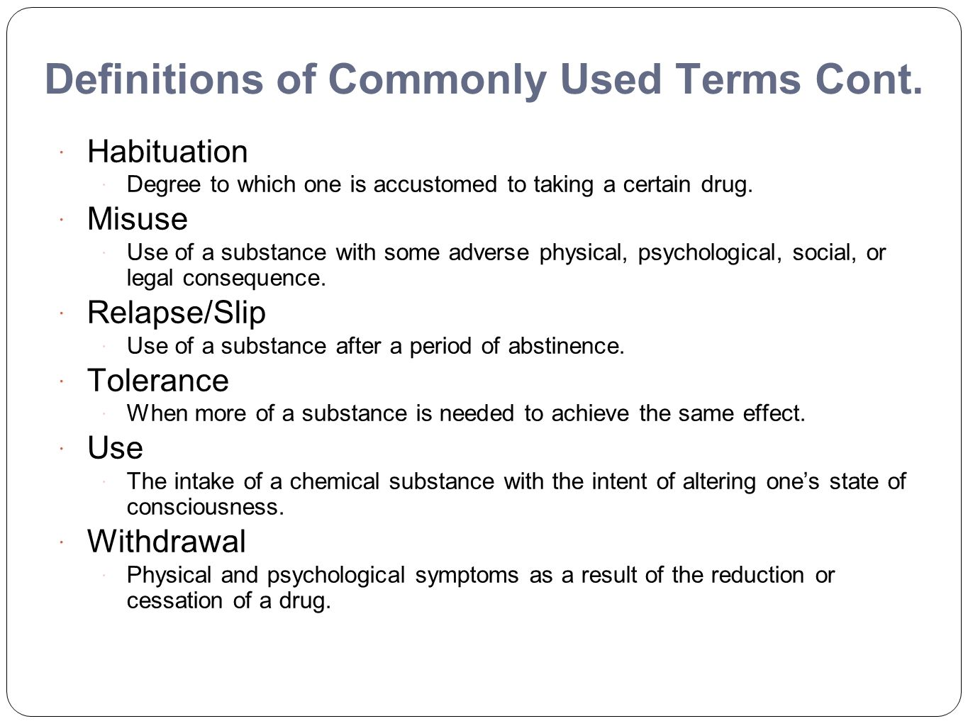chapter eleven: chemical dependency: the crisis of addiction - ppt