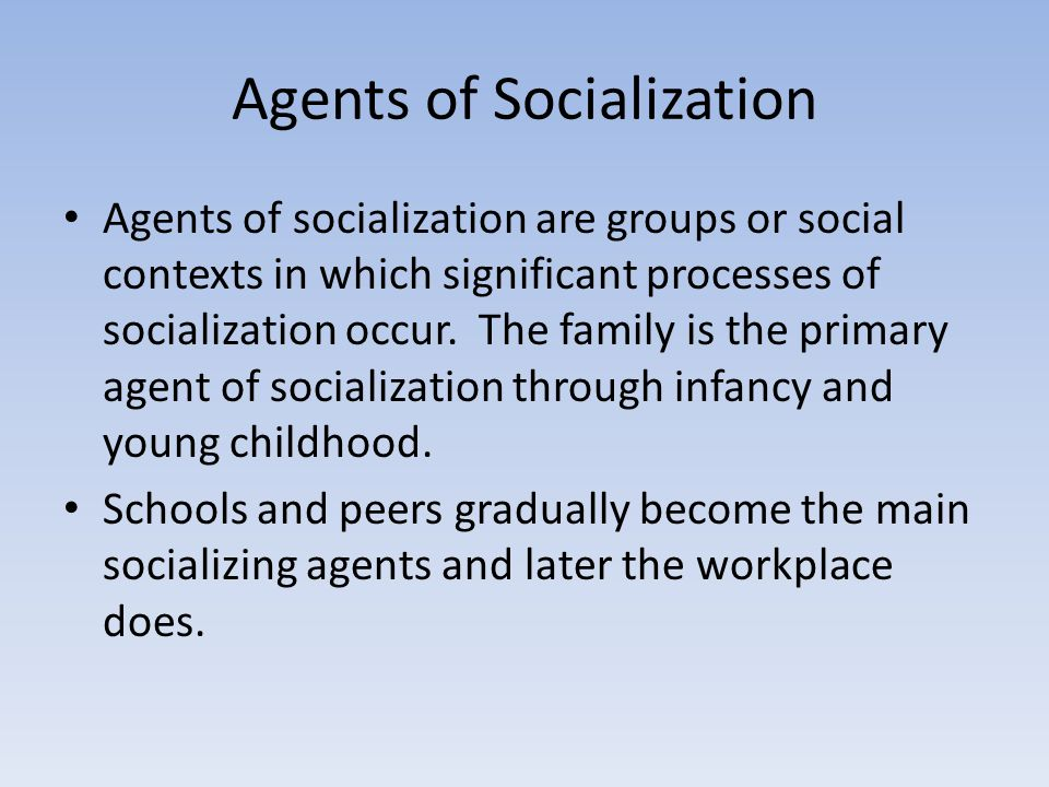 workplace agent of socialization