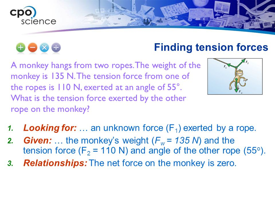 Finding tension forces
