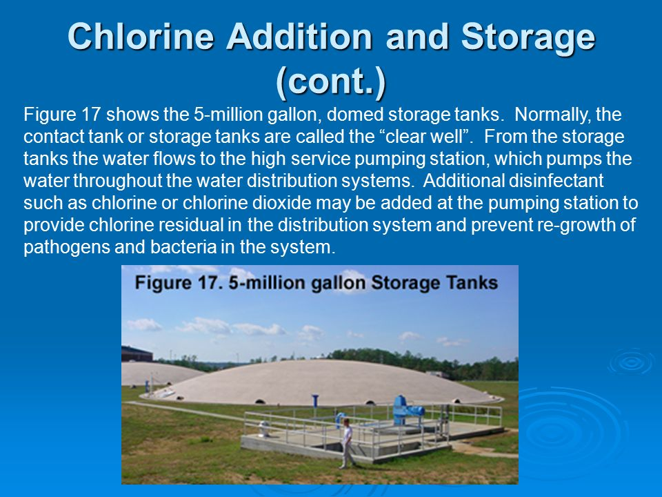 Chlorine Addition and Storage (cont.)
