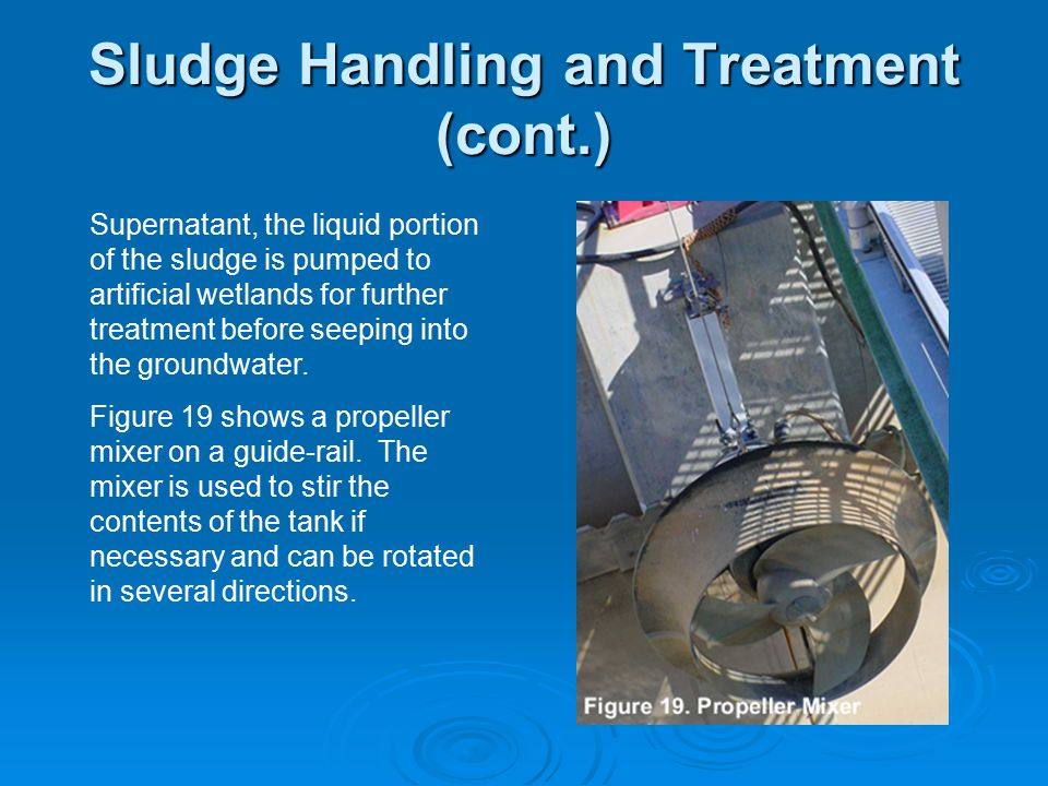Sludge Handling and Treatment (cont.)