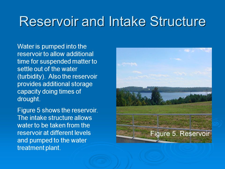 Reservoir and Intake Structure