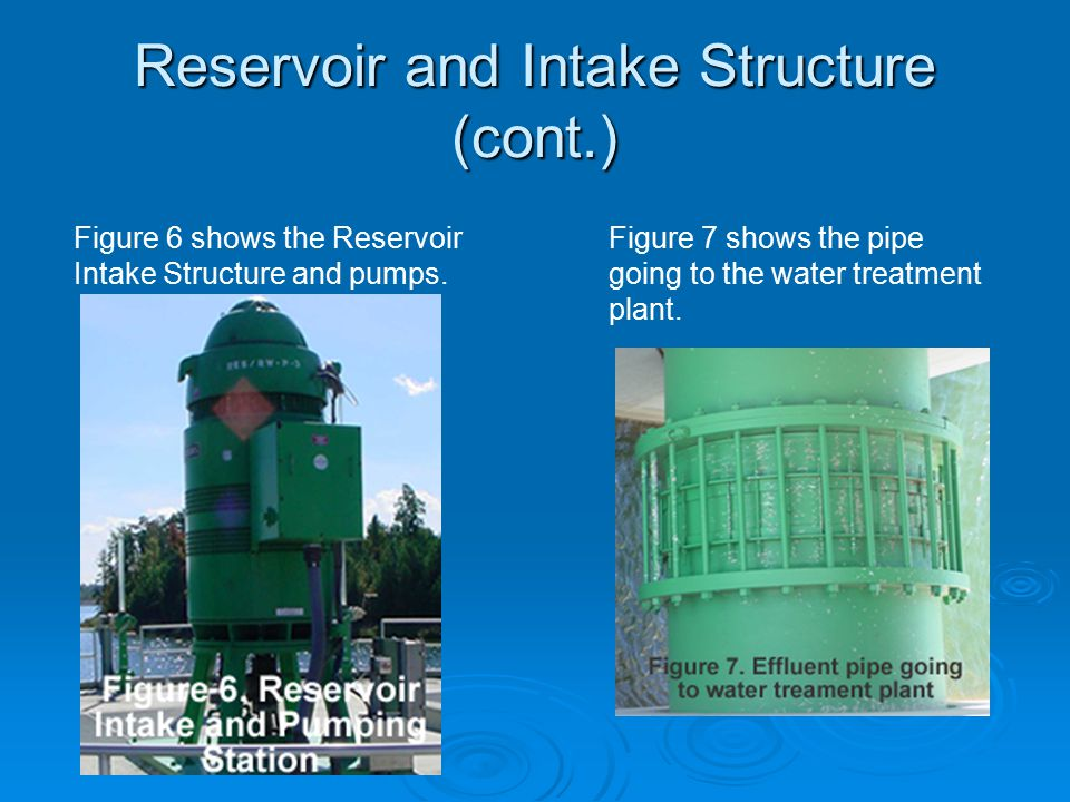 Reservoir and Intake Structure (cont.)