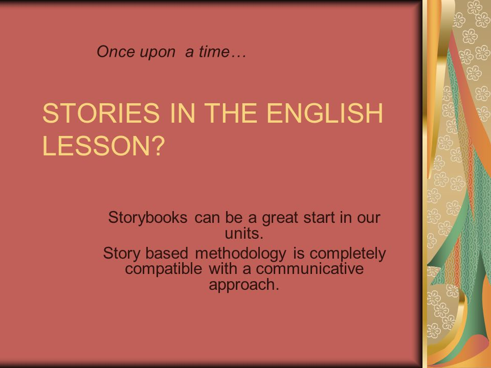 STORIES IN THE ENGLISH LESSON