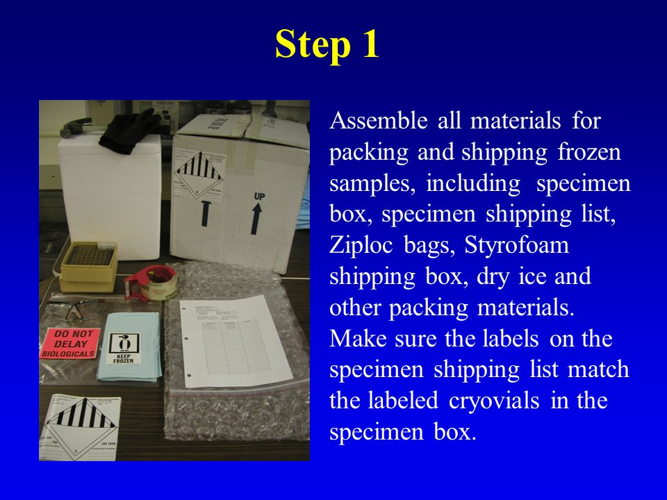 Packaging And Shipping Frozen Specimens Using Dry Ice Ppt