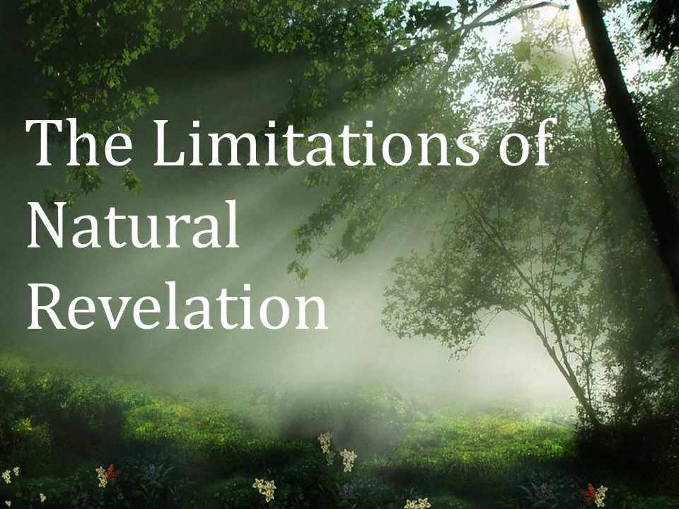 The Limitations of Natural Revelation