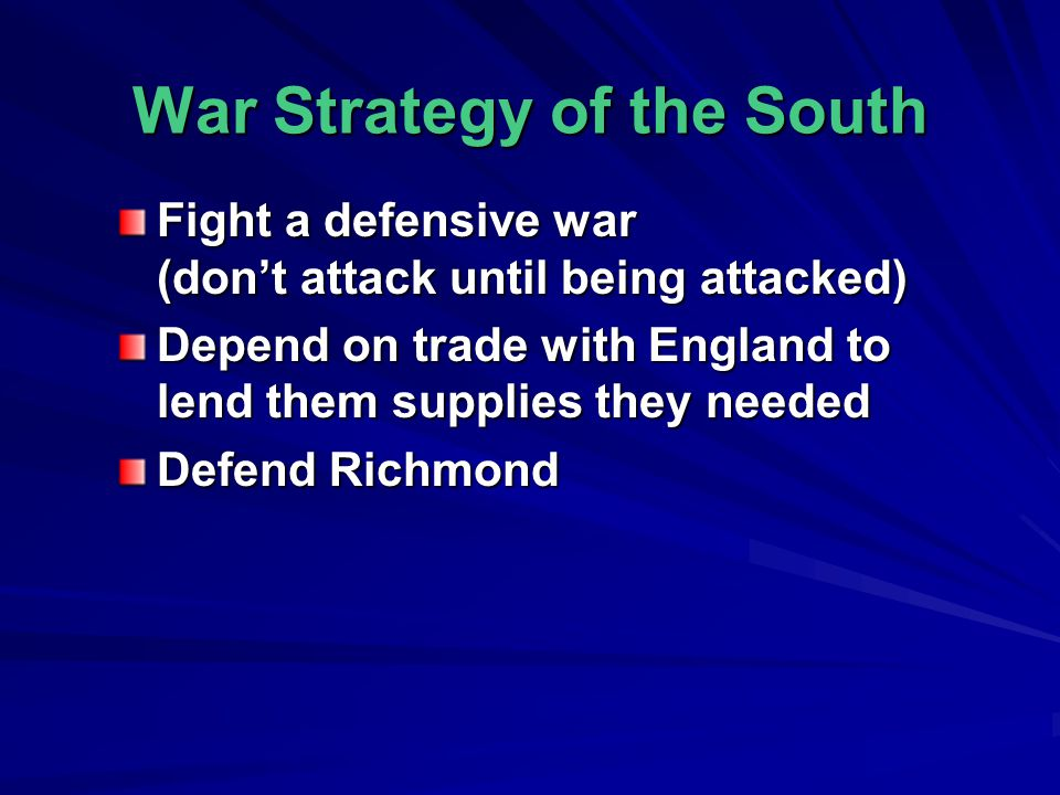 War Strategy of the South