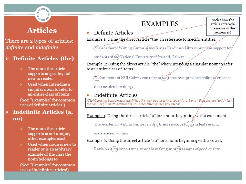 example of article writing in english