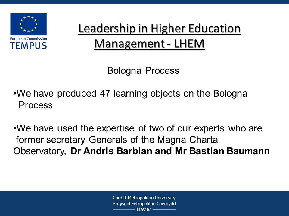 Leadership in Higher Education Management - LHEM